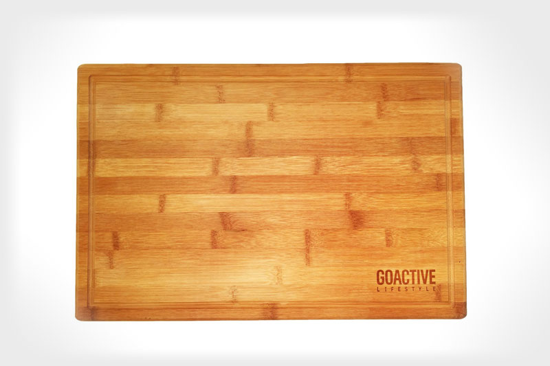 Go Active Lifestyle Bamboo Cutting Board with Drip Groove