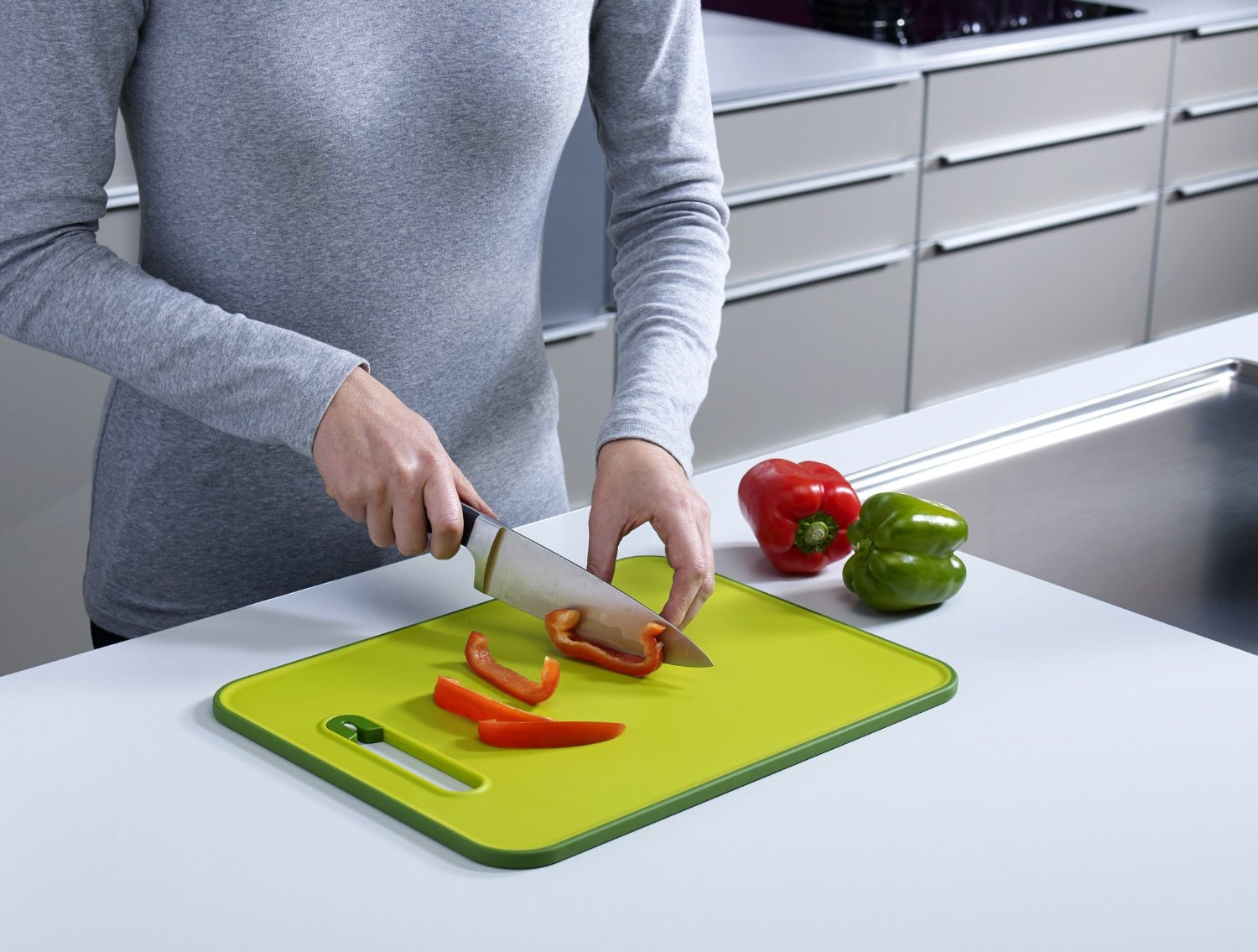 Joseph Joseph Chopping Board with Integrated Knife Sharpener