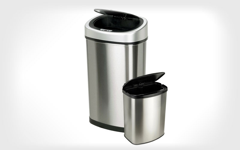 Nine Stars Touchless Automatic Motion Sensor Trash Can, Set of 2