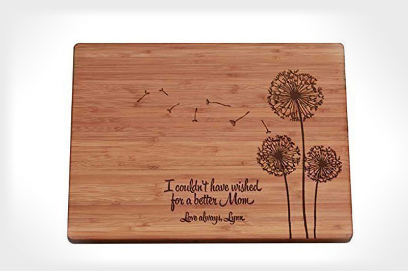 Personalized Cutting Board - Mother's Day Dandelions