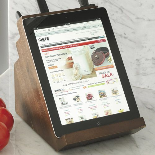 Kitchen Knife Block & Tablet Stand