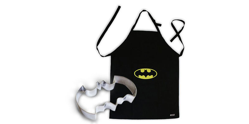 Batman Logo Apron and Cookie Cutter